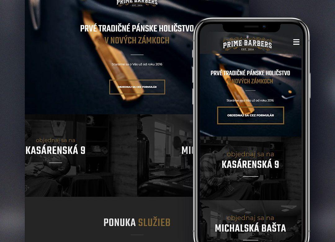 Prime Barbers web