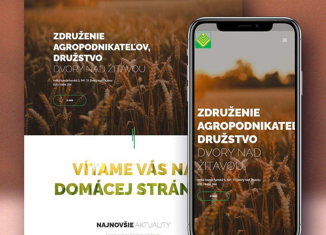 Združenie agropodnikateľov, družstvo Dvory nad Žitavou web